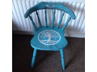 Upcycled hand painted chair