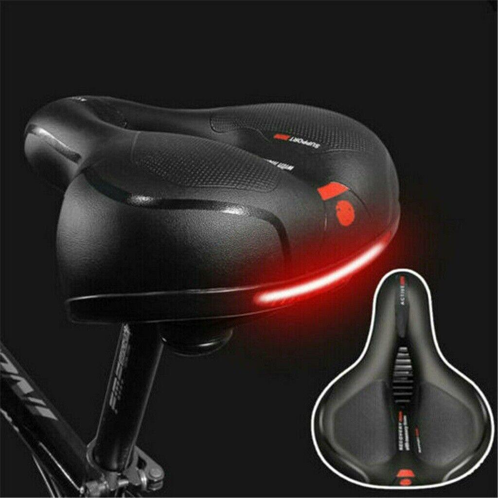 Extra Wide Comfort Saddle Bicycle Seat Pad Soft Padded Mountain Bike Gel Saddle.