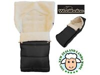 FREE extras(in description)+USED ONLY ONCE-WOOLIBALOO LUXURY 100% LAMBSWOOL FOOTMUFF RRP £120->PINK