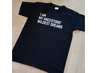 Ancestors Wildest Dreams tee shirt mens
