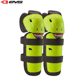 New Kids Youth EVS Knee Shin Guards Pads Motocross BMX Quad Hi Vis Age 8-13 Year
