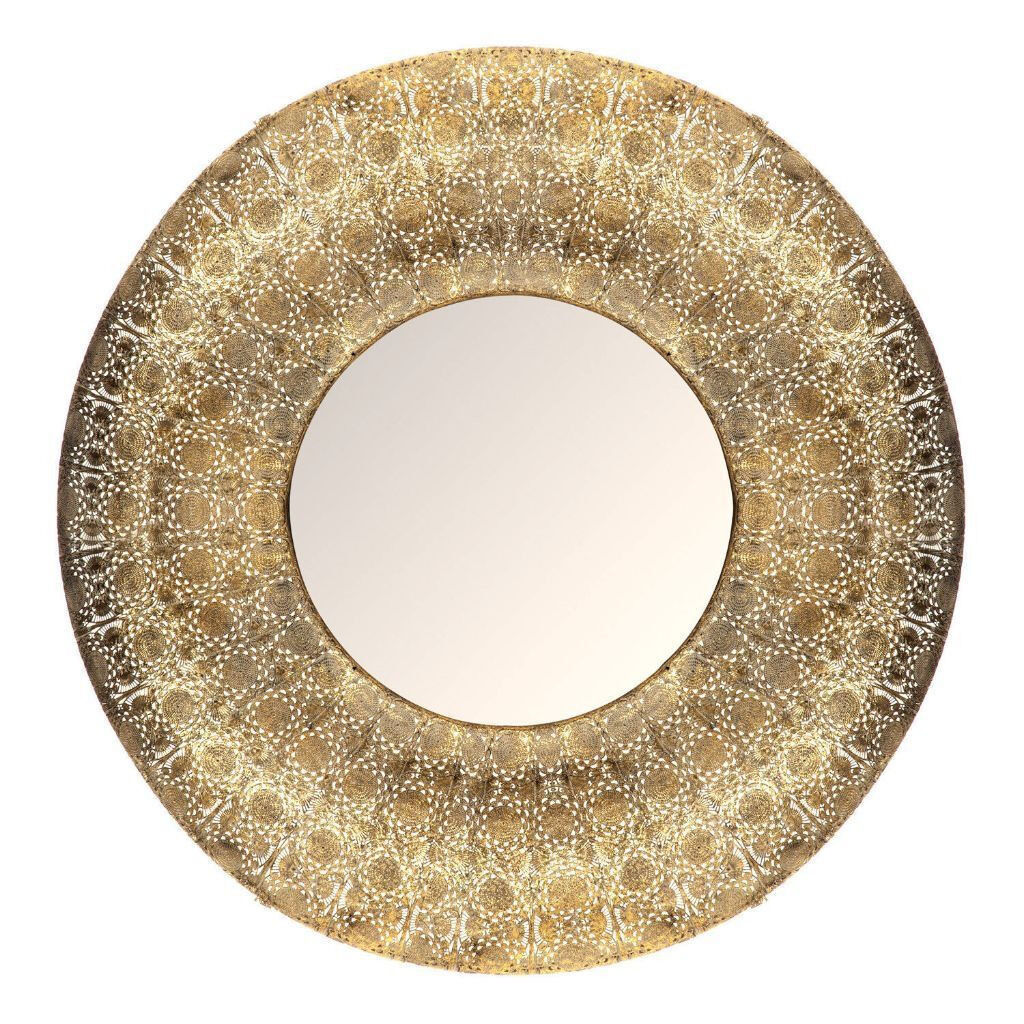New large gold round moroccan mirror in leicester for Big gold mirror