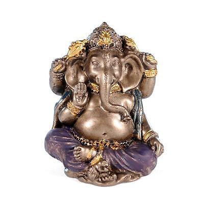 Miniature Ganesha Statue 2  Small Hindu Elephant God Mini Resin New Lord Ganesh
