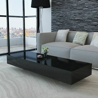 vidaXL Coffee Table High Gloss Black Accent Tea Side Living Room Furniture
