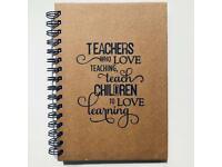 A5 size Lined Teacher Notebook