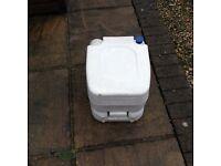 Camping / caravan portal loo with two bottles of chemicals reduced to £30