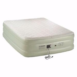 Coleman Airbed Double High Queen Pillowtop w/ 120-Volt Built-In Pump (Used,Good) Pu4