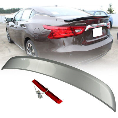 Stock In La Paint  K23 Silver For Nissan 8Th Maxima A36 4Dr Trunk Spoiler Abs