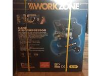 SOLD /// Brand new/ unused/ AIR COMPRESSOR 2.5HP / workzone / ACCESSORY KIT