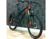 KTM Lycan Prestige Full Suspension Carbon Mountain Bike - 650b - Only 10mths Old