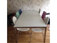 IKEA glass frosted glass table