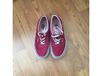 Vans Size 5 - Maroon and white . Excellent condition