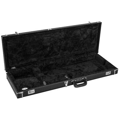 Fender Classic Wood Stratocater Telecaster Guitar Hard Case - Black