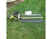 Ryobi 600w electric hedge trimmer with safety guard and debris sweeper. Fully working and very clean
