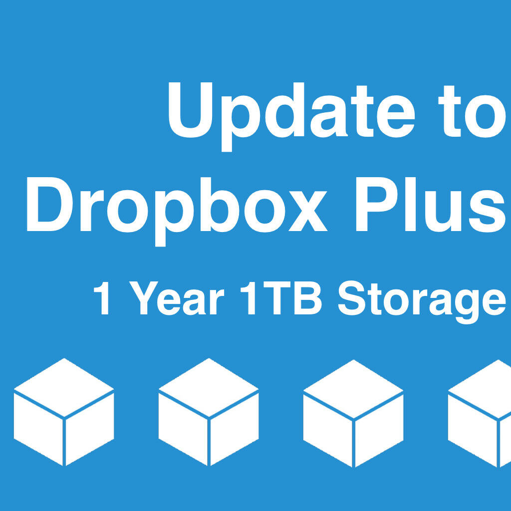 Купить Dropbox - Upgrade Dropbox Basic Account to Plus Account with 1TB for One Year