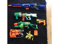 Bundle of Nerf and Nerf type Guns.