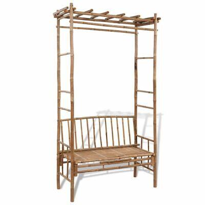 Arbor Seat - vidaXL Garden Bench w/ Pergola Bamboo Outdoor Patio Lounge Chair Arbor Seat