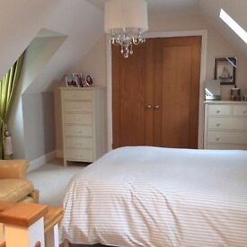A private luxury double bedroom with ensuite bathroom