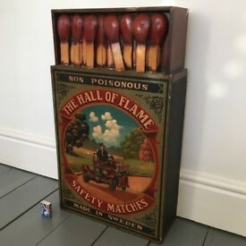 Huge Wooden BOX OF MATCHES / MATCHBOX Advertising Cupboard / Sign