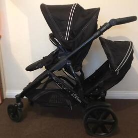 Twin double pushchair baggy B-Dual