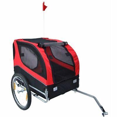 vidaXL Dog Bike Trailer Foldable Lassie Red Bicycl