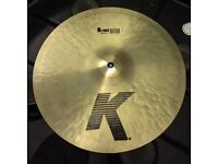 Zildjian K cymbals with SKB hard case.