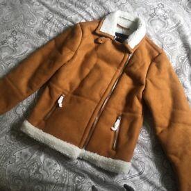 Faux suede tan jacket