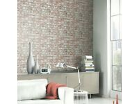 Rustic Brick Wall Paper by Arthouse