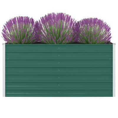 vidaXL Jardinera Elevada de Acero Galvanizado Verde 160x80x77cm Macetero Patio