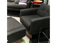 Kenneth Cole Lennox Armchair and matching Ottoman