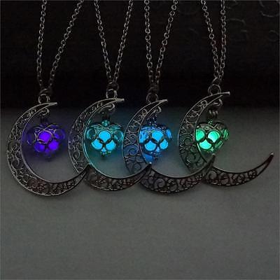 Crescent Sailor Moon Glow in The Dark Pendant Necklace Women's Jewelry Gift NEW! - Glow In The Dark Jewelry