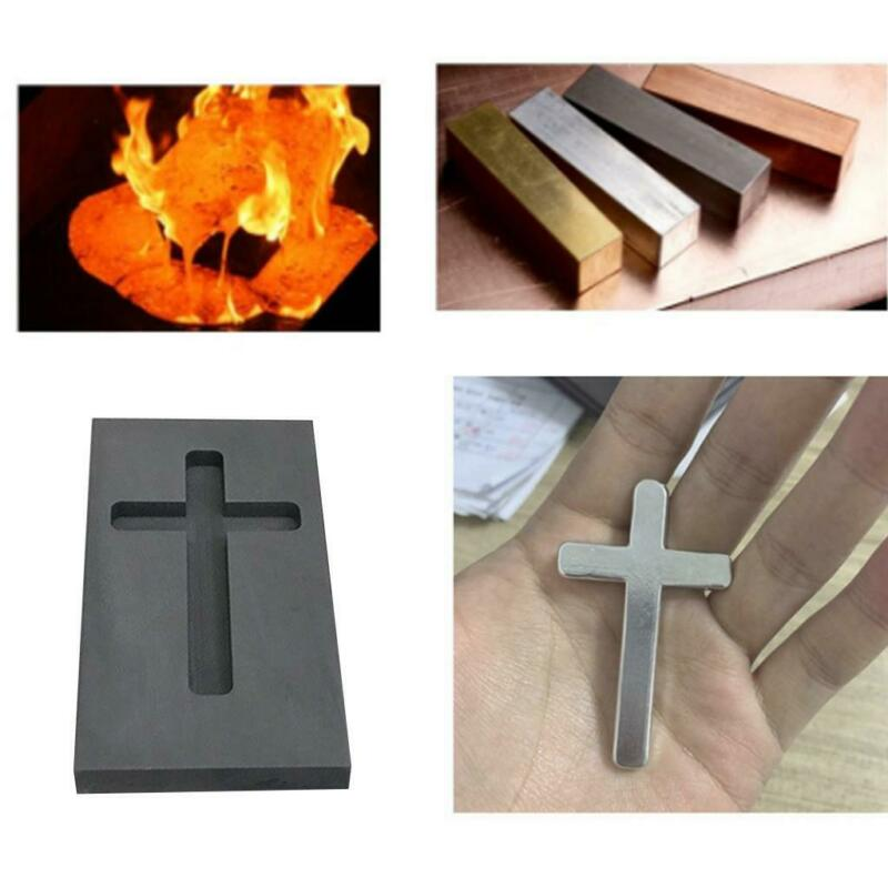 Graphite Ingot Bar Mold Mould Crucible for Melting Gold Silver Casting Cross