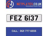 'FEZ 6137' Personalised Number Plate Audi BMW Ford Golf Mercedes VW Kia Vauxhall Caravan van 4x4
