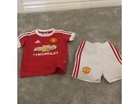 Manchester United season 15/16 child's 6-9 months kit