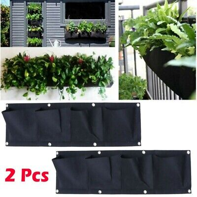 Multi Pocket Wall Hanging Planting Bag Vertical Flower Grow Pouch Planter Garden