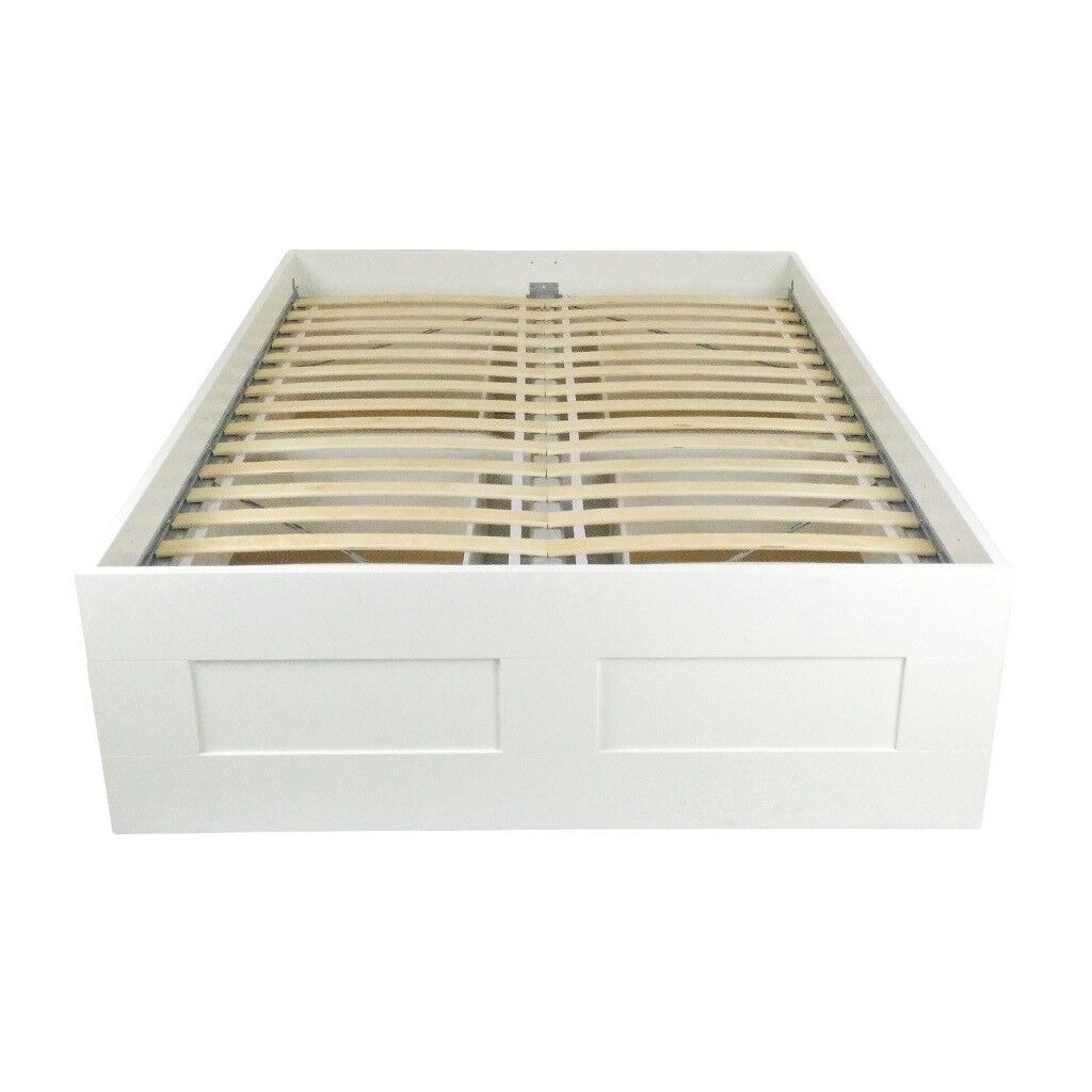Ikea Brimnes Bed Frame with ikea Malfors mattress | in Romsey ...