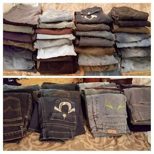Women's jeans slightly used 35 pairs brand names