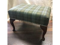 Tartan footstool for sale. Moon fabric. Size 24 x 15 x 12inches