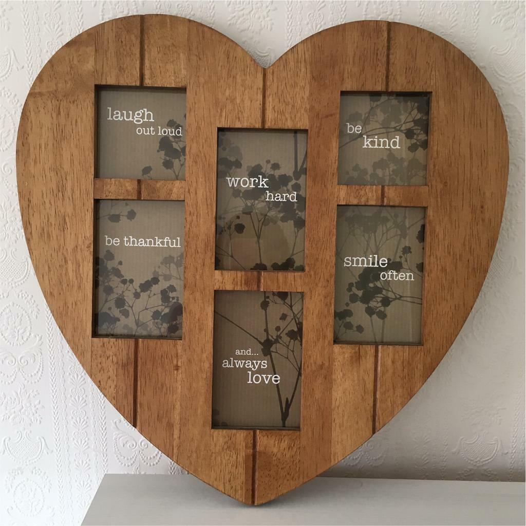 next wooden heart collage frame
