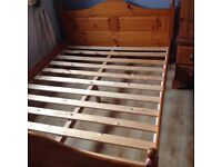 Lovely Pine Bed - with matching cheval mirror
