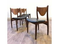 4 G-Plan Teak Dining Chairs Mid Century Retro Vintage gplan g plan
