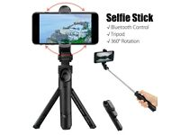 New 360 Degree Selfie Stick Tripod Desktop Phone Holder with Bluetooth Remote Control