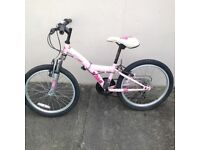 """Girls 20"""" 5 Speed Bicycle,Front Fork Suspension,Used."""