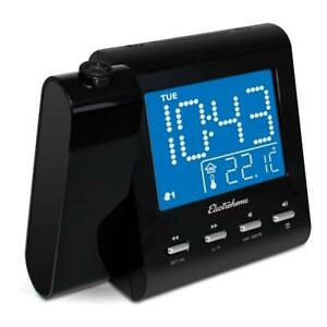 NEW Electrohome Projection Alarm Clock with AM/FM Radio, Battery Backup, Auto Time Set, Dual