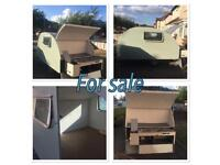 Teardrop caravan trailer pull out kitchen Vw camping