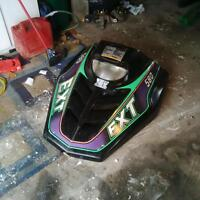 Arctic Cat EXT 580 hood with guages and light