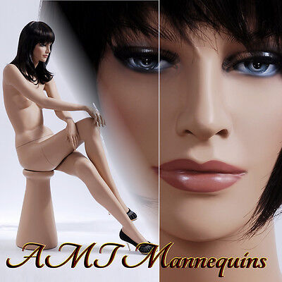 Female Mannequins Brand New Display Sitting Hand Made Mannequin-ruby