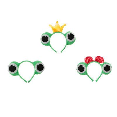 Haarreif Frosch-Augen, Grün, 3 Stück (Frosch Augen Kostüm)