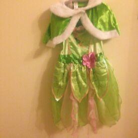 Tinker bell girls fancy dress costume age 7-8 years