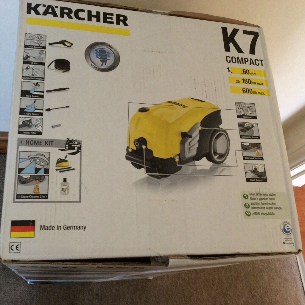 karcher k7 compact pressure cleaner new in box in tilehurst berkshire gumtree. Black Bedroom Furniture Sets. Home Design Ideas